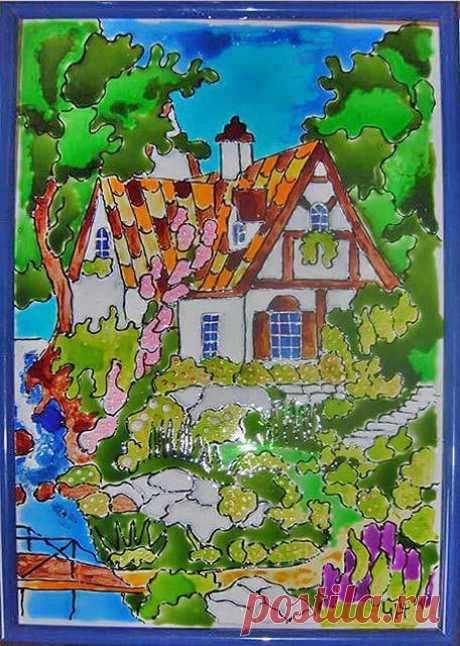 Роспись по стеклу, керамике | Мой Милый Дом — идеи рукоделия, вязание, декорирование интерьеров
