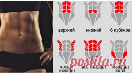 Всего 5 упражнений, которые помогут сделать ваш живот плоским! Короткая, но очень эффективная тренировка для пресса!