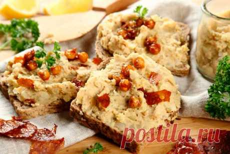 Как приготовить – Вегетарианские бутерброды с пастой из нута – пошаговый рецепт с фото.