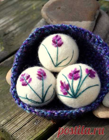 Wool Dryer Balls, Lavender Oil Infused, Sachets, Set of 3 With Crocheted Basket, Eco Friendly, Natural To this Earth be gentle, to this Earth be kind! What better way then to reduce your carbon…