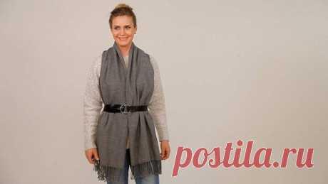 Как завязать шарф в стиле бохо и другие эффектные варианты   модница   Яндекс Дзен