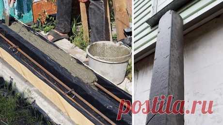 Простая технология изготовления ровных аккуратных бетонных столбиков в домашних условиях Для установки забора или шпалеры под виноград требуются столбы. Самым дешевым и при этом долговечным решением будут бетонные, но и они стоят не копейки. Если вы хотите сэкономить, то сделайте их своими руками. Материалы: Обрезная доска; полиэтиленовая пленка; арматура; вязальная