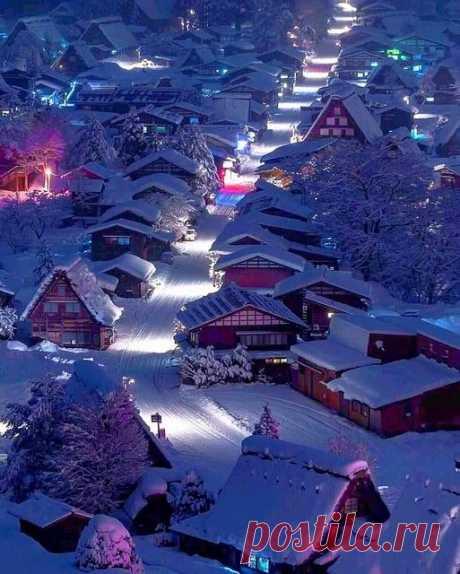 Япония.  Деревня на острове Хоккайдо.