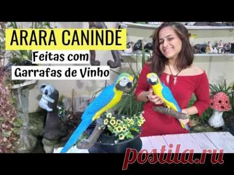 DIY-ARARA-CANINDÉ из винной бутылки