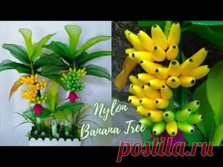 How to Make Banana Trees from Nylon Stocking || Tutorial Pohon Pisang dari Stoking