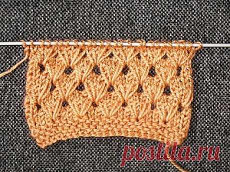 Вяжем интересный узор с вытянутыми петлями - Ярмарка Мастеров - ручная работа, handmade