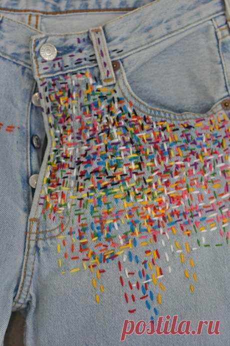 """""""Твидовые"""" джинсы Модная одежда и дизайн интерьера своими руками"""