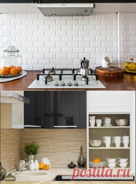 Kерамическая плитка для кухни на фартук: фото-каталог, примеры выкладки, обзор преимуществ