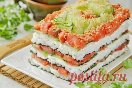 "Салат ""Суши"" - пошаговый рецепт с фото на Повар.ру"