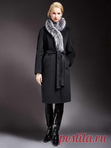 Пальто женское демисезонное цвет черный, Пальтовая ткань, артикул 1017071p60199