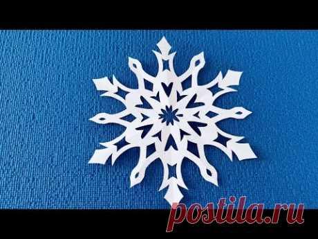 Как вырезать снежинки из бумаги. How to cut a paper snowflake