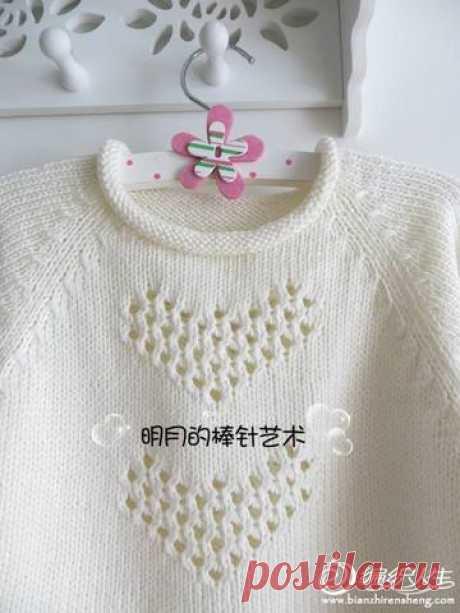 """Пуловер-пончо """"Сердечки"""" — Сделай сам, идеи для творчества - DIY Ideas"""