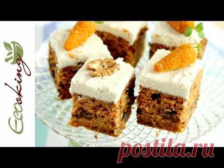 🔥🔥 Потрясающий Морковный пирог мягкий и влажный / vegan (постный) gluten free