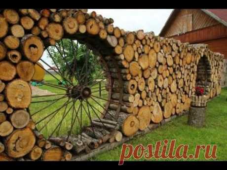 Деревянные заборы для дачи — свежие идеи и фото - YouTube