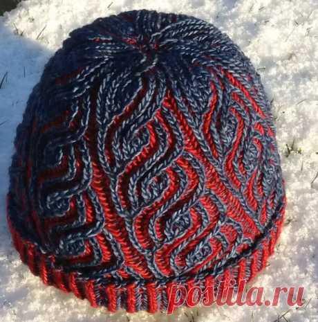Вязание шапки Бриошь - схема техники в стиле Бриошь