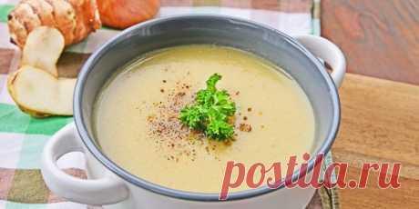 Суп-пюре из топинамбура и сельдерея