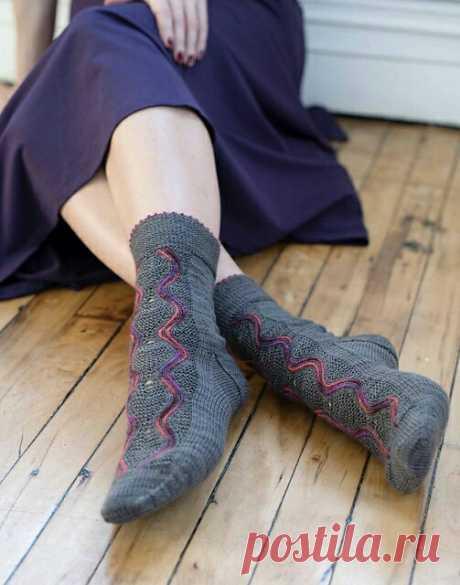 Как связать красивые носки diy Модная одежда и дизайн интерьера своими руками