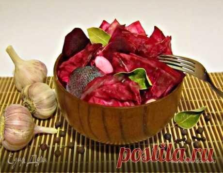 Маринованная красная капуста. Ингредиенты: свекла, чеснок, рассол | Едим Дома кулинарные рецепты от Юлии Высоцкой