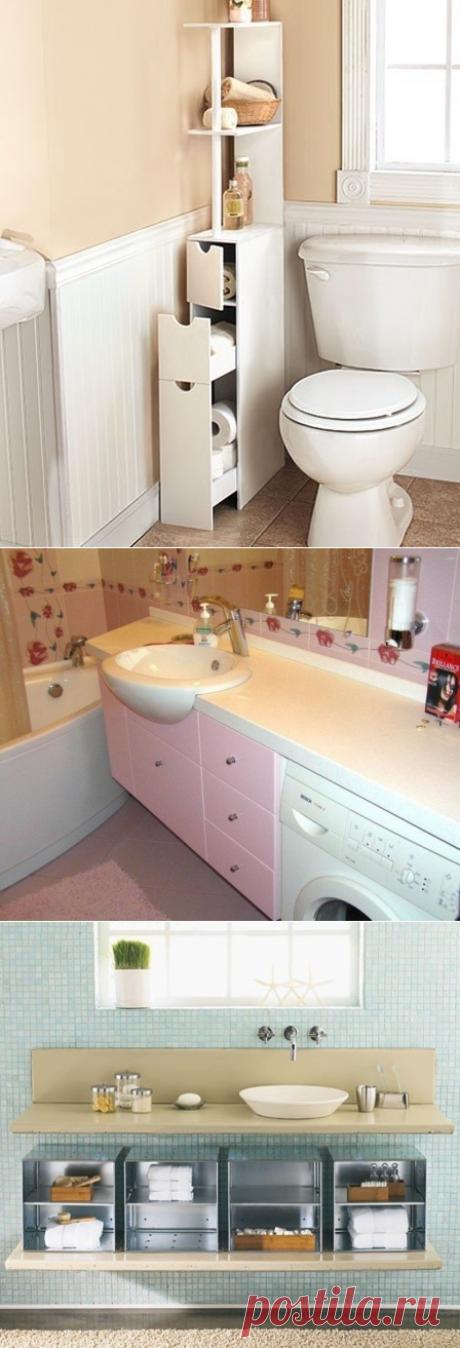Как сэкономить место в ванной - Дизайн интерьеров   Идеи вашего дома   Lodgers