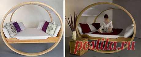 . Детская мечта об уютной колыбели воплощена в модели Private Cloud. К такой кровати можно даже приделать колесики и кататься по дому. Кроме того, кровать раскладная и может превращаться в удобное кресло.