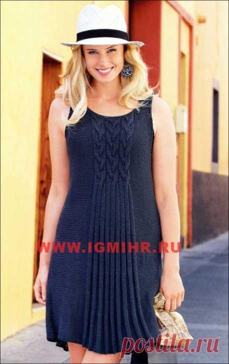 Летнее платье цвета антрацит от Verena