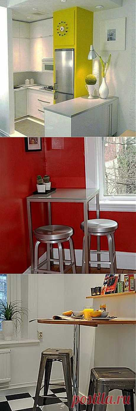 Куда поставить обеденный стол на маленькой кухне