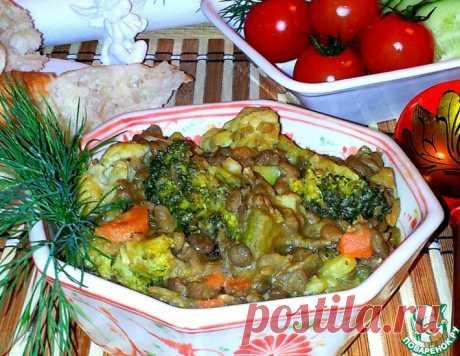 Чечевица с овощами – кулинарный рецепт