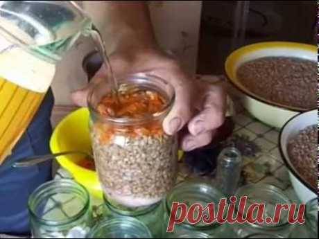 Preparation of buckwheat cereal in the autoclave.