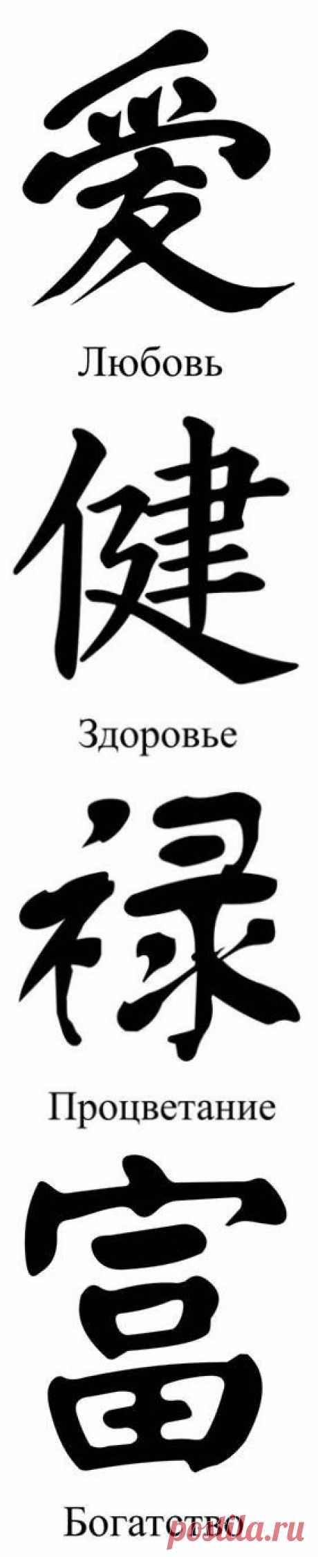 Трафареты иероглифов (для фэн-шуй).