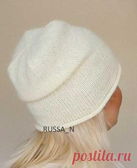 Милая шапочка бини   Вязальный роман   Яндекс Дзен