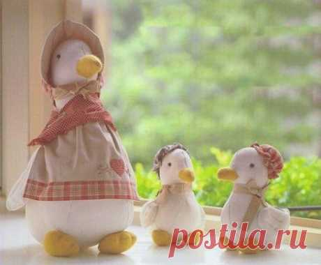 """Мама duck and утята"" - textile toys. Patterns"