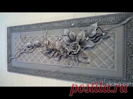 Декоративное панно с лепным декором,барельеф - YouTube