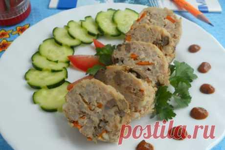 Колбаска из куриного фарша с рисом и печенью — ХОЗЯЮШКА