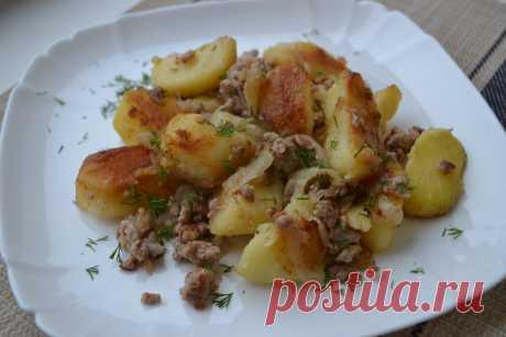 """Муж к ужину нажарил обычной """"картошки"""", новым для меня способом. Получилось действительно очень вкусно! Возьму себе на заметку.   Елена/НедОсолила   Яндекс Дзен"""
