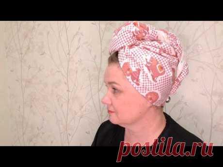 Полотенце-шапочка для сушки волос /Чалма/ Тюрбан Мастер-класс с выкройкой!