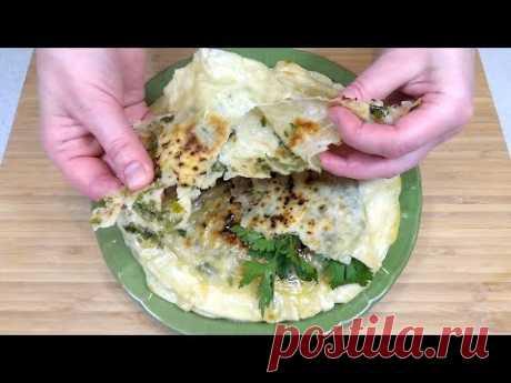 Домашний индийский лаваш Чапати с начинкой на сковороде. Домашние Лепешки с сыром и зеленью. - YouTube