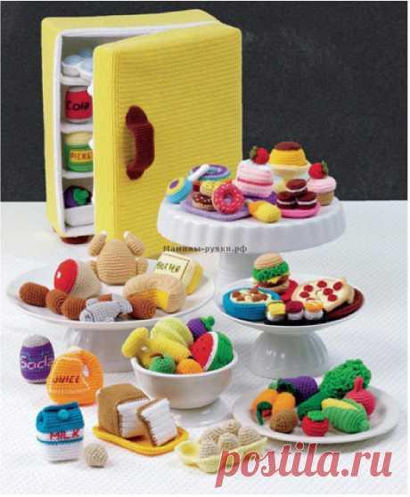 Вязаный крючком холодильник с продуктами | Мамины-ручки.рф