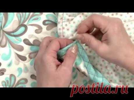 Азы шитья. Аккуратный уголок при обработке края косой бейкой. Видео