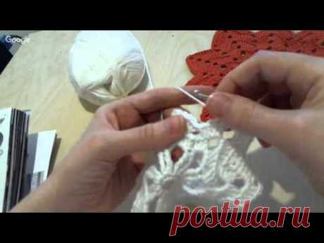 The master - a class on knitting in equipment of the Irish lace