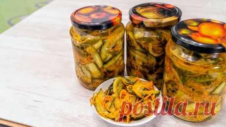 Огурцы с морковью по-корейски на зиму | Найди Свой Рецепт | Яндекс Дзен