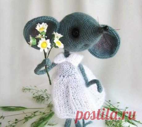 Милая мышка амигуруми
