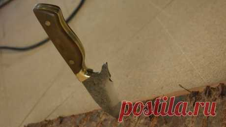 Небольшой крепкий нож из старого пильного диска