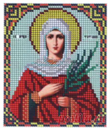 Схема для вышивки крестиком бисером икона Св.Татьяна