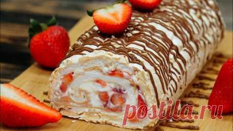 Вкуснейший летний десерт, которого Вы не пробовали ранее - Меренговый рулет ...