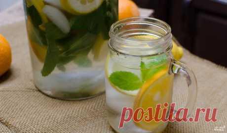 Лимонная вода для похудения - пошаговый кулинарный рецепт на Повар.ру