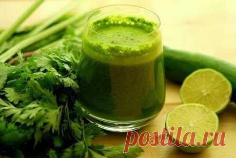 Зеленый коктейль для похудения