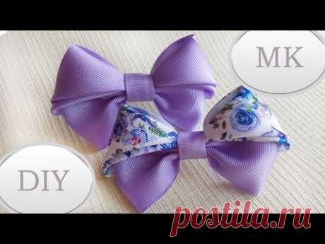 Красивые бантики из репсовых лент МК 🎀 Laço De Fita 🎀 Ribbon Bow Tutorial 🎀 - YouTube