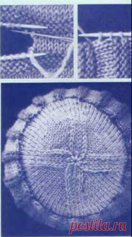 Cекрет красивой формы при вязании классической шапочки спицами