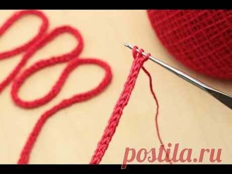 ШНУР крючком урок вязания  Crochet a cord