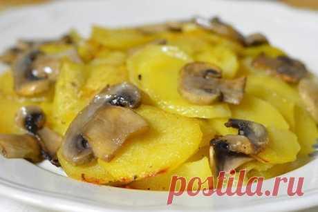 Картофель в сливках с грибами — ХОЗЯЮШКА
